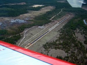 Aavahelukka airfield from the air in June 2003. Photo Joni Hares