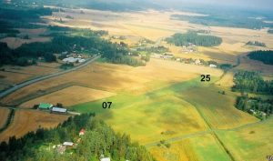 Genböle field from the air as seen in the summer of 2004. Photo: Riina Aho-Heinonen.