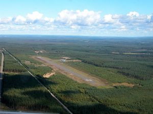 Kitee airport from the the south (click on it for large picture) Photo: Mikko Maliniemi