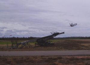Periodically unmanned aircraft test flight operations are carried out on the airfield. Photo Robonic Oy.
