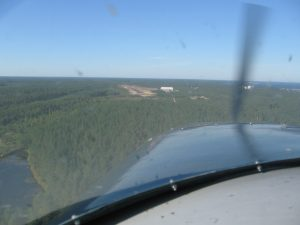 The hangar is visible from very far. Here seen approaching RWY 23 Picture: Veikko karasvirta