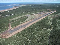 Kalajoki airfield from the south photographed in 2002. Photo Taisto Alasimi