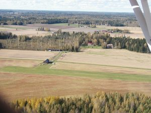 Mäntsälän airfield from the air 26.9.2004. Photo by Pekka Halme