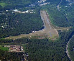 Nummela Airport seen from the direction of RWY22. (click to enlarge)