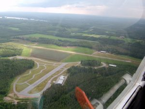 Aerial view in July 2003. In the foreground the police driving training course. Photo Hannu Katajisto.