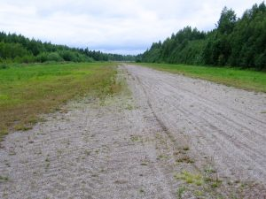 surface of the runway 34 viewed the north