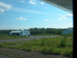 Airfield parking area as seen from the runway in the summer of 2003. Photo by Mikko Maliniemi.