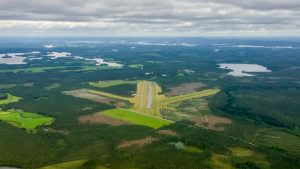 Rautavaara airport from the north. Taken: 12.7.2015 Photo: Tom Arppe