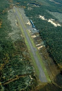 Aerial view seen from the direction of runway 10 in the autumn of 2005. Photo by Mikko Maliniemi