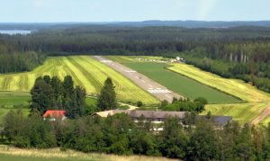 Runway in the summer of 2012. The picture shows the renovated runway paintings. Photo Timo Hyvönen.