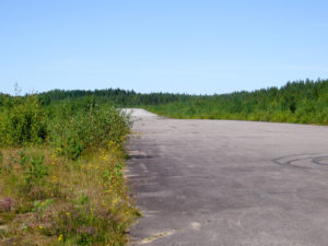 The rwy asphalt is in reasonable shape, but the bushes on both sides of the runway has not been trimmed in years. Its height is reaches about 2-3 meters.