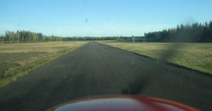 Runway 12 runway surface photographed from the middle of runway 12 on the 5.10.2005. Photo Marko Tolvanen. (Click to enlarge)