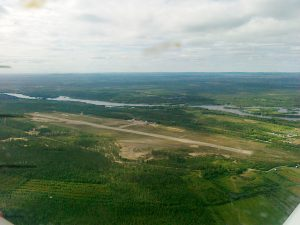 Sodankylä airport seen from the air in the summer of 2010 (Click to enlarge). <br /> Photo Tero Kaipio.