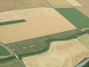 Torbacka airfield as seen from the from the air in the summer of 2003. Photo by Pontus Hedlund.